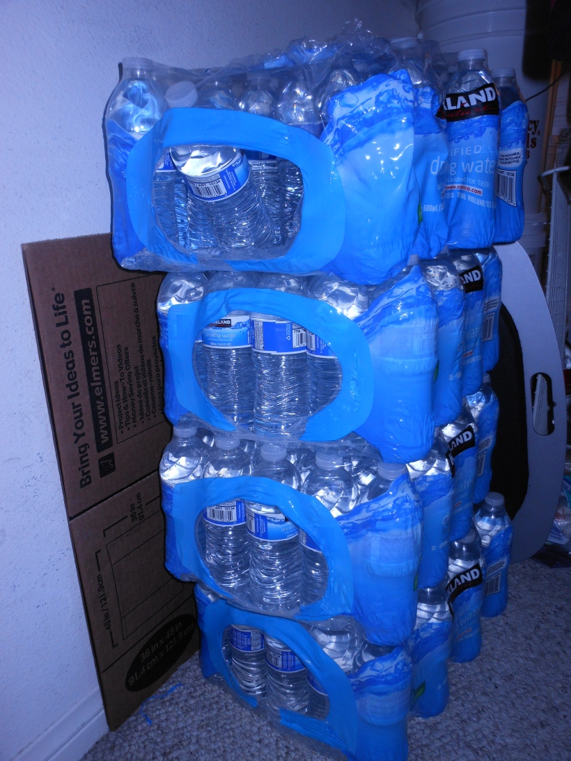 Costco Water - Easy to rotate and store