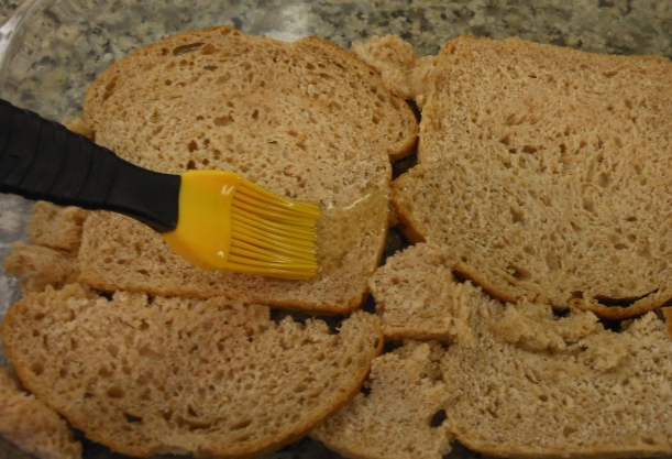Then I buttered the other side of the bread.