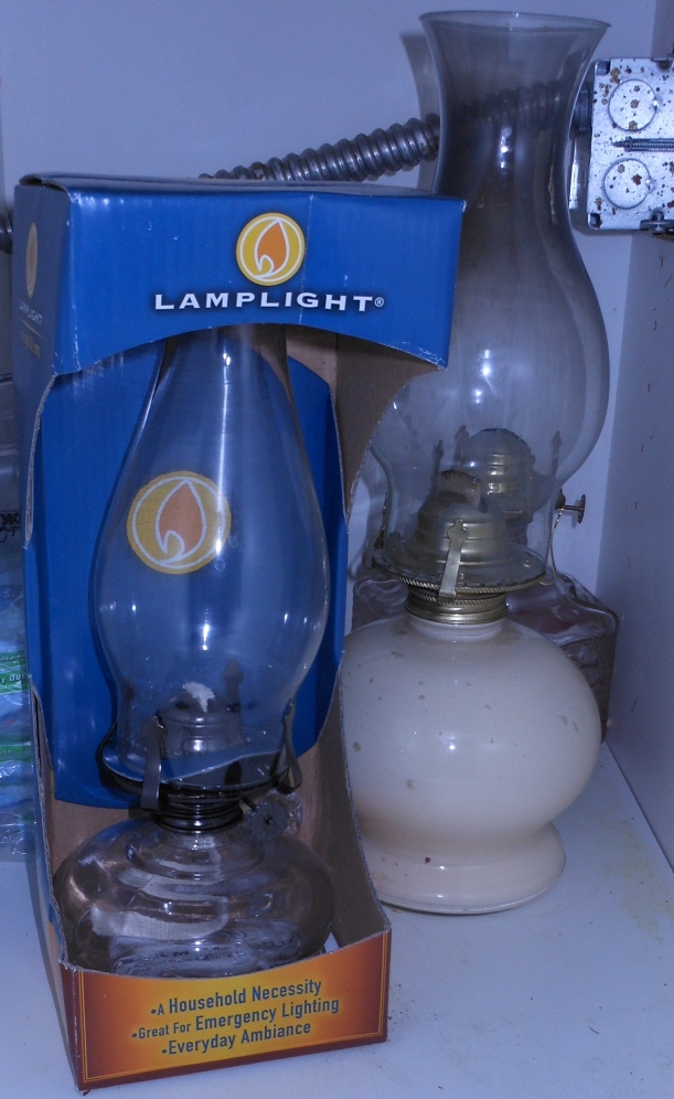 Oil lanterns.   I cannot use these immediately after an earthquake (possible broken gas lines), but I can use these in a power outage, and they add a homey feeling.