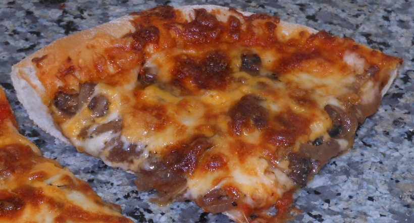 And the mushroom pizza.
