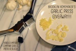 garlic press giveaway | Brooklyn Homemaker