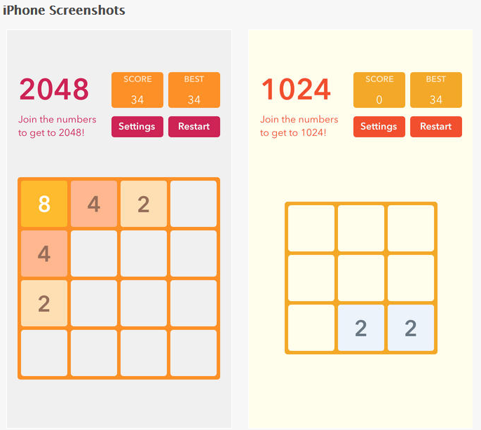 Finally, my favorite time waster, 2048 + More.  This game seems simple, and it is.  It's a great way to pass the time when I'm sitting in a waiting room or waiting for my pictures to upload to my blog.  Click here to see it.