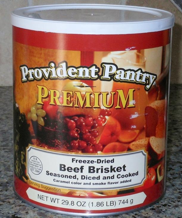 Krystal won this huge #10 can of Emergency Essentials Freeze Dried Beef Brisket!