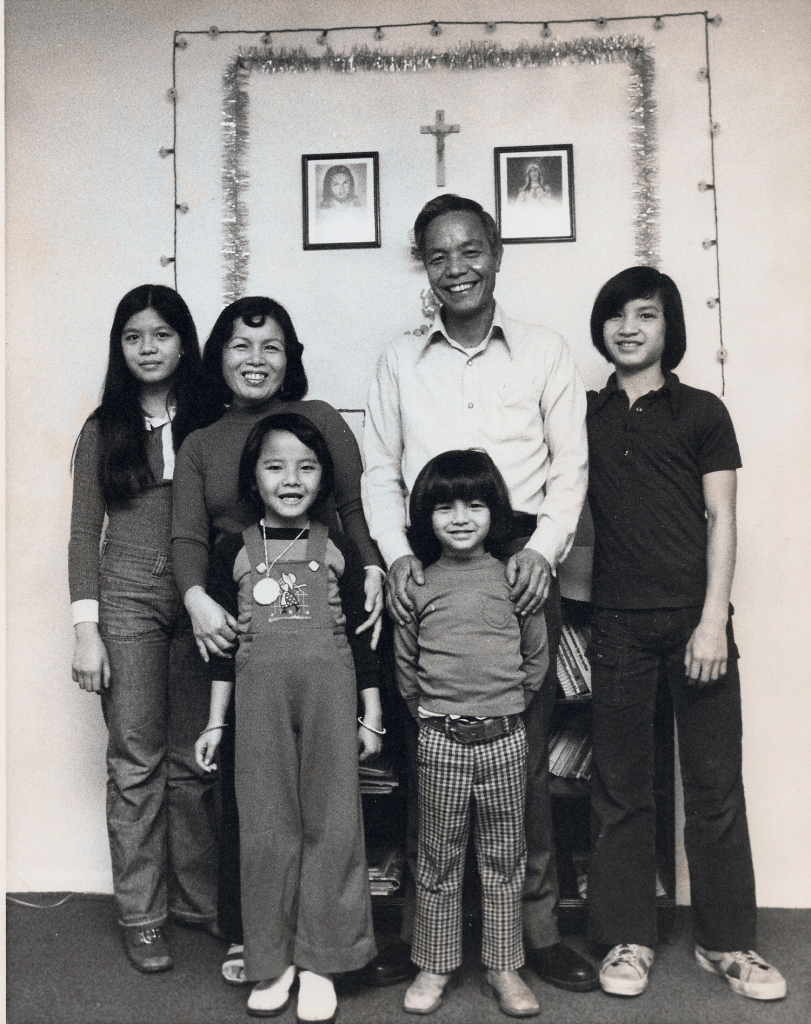 Nguyen Family in USA, featured in a Washington Post article.