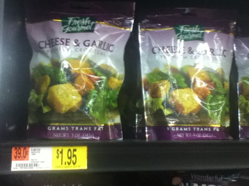 These croutons are just under $2 for 20 servings.  Each serving is listed as 6 croutons, which is probably about 1/4 cup.  So you are paying about 10 cents a serving.  Not too shabby.