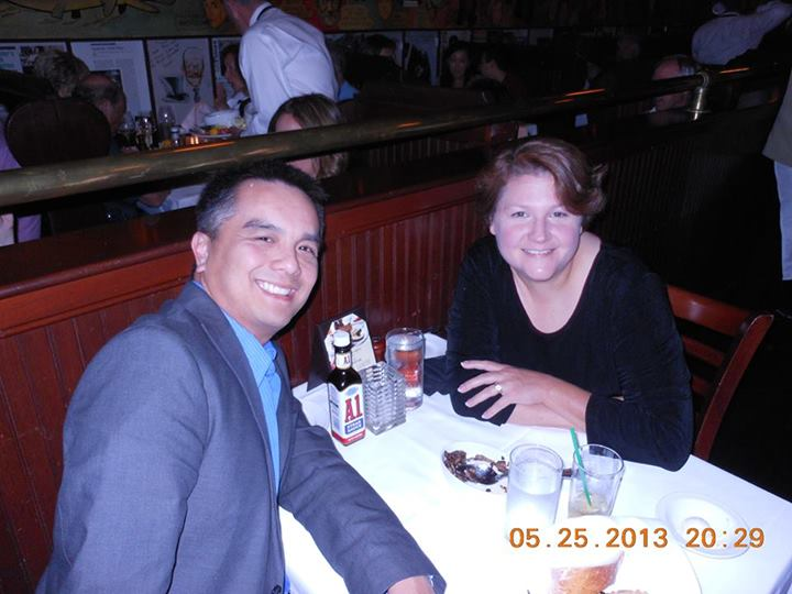Our 23rd Anniversary Dinner which was paid for with a gift card I won.