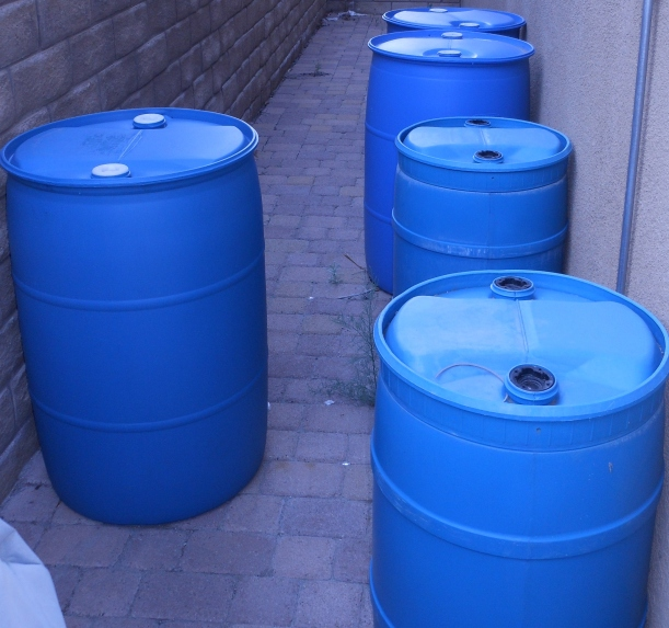 I really wanted to have a bit more water on hand, so I bought another 55-gallon barrel.
