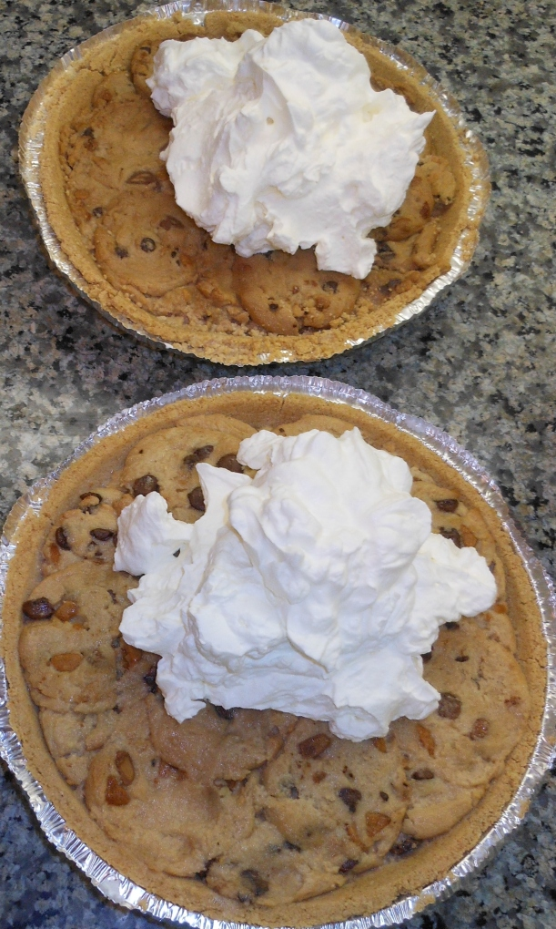 Next, I topped the pie with whipped cream (homemade, because it tastes so much better!).