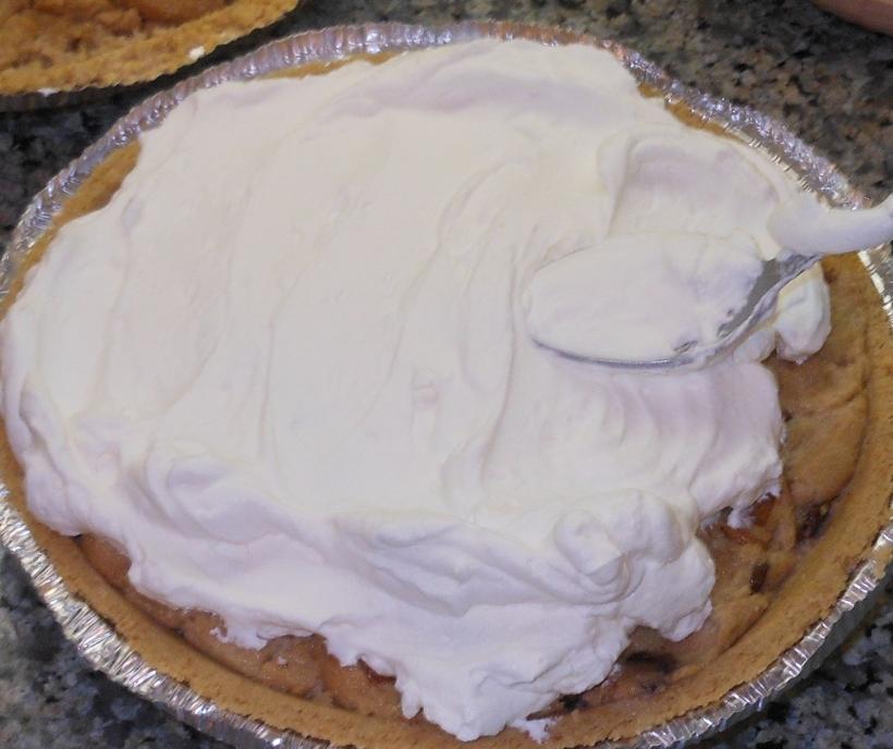 I spread the whipped cream around...
