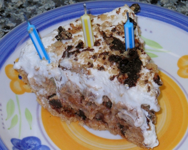 We put some candles on, sang Happy Birthday, and ate this delicious pie.