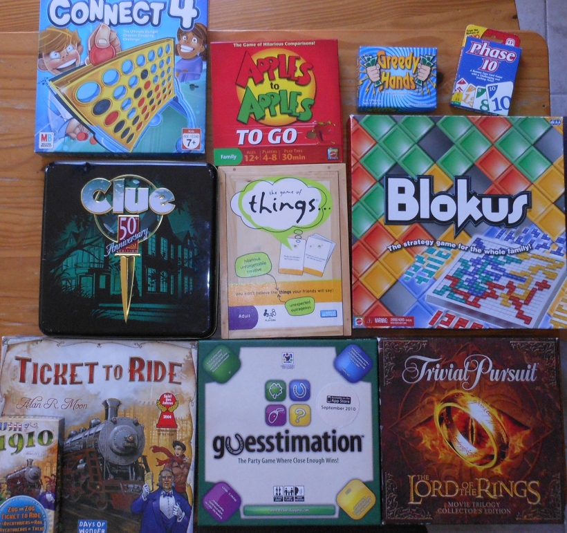 Some of my current favorites.  This can change at any moment, but I especially love the games that I win!