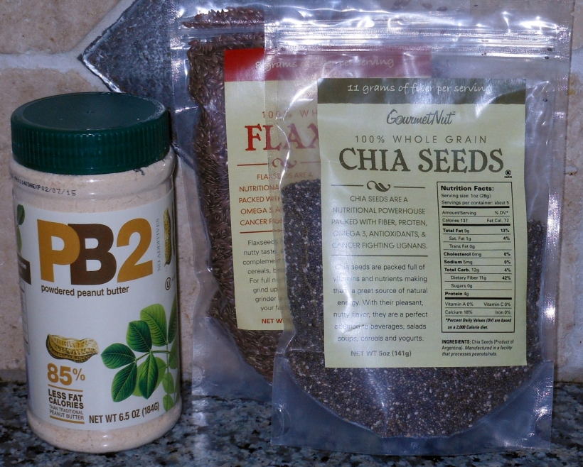 Look at these fab items: PB Powder, Chia Seeds, and Flax Seeds!  Thanks, 2 Moms In The Kitchen!