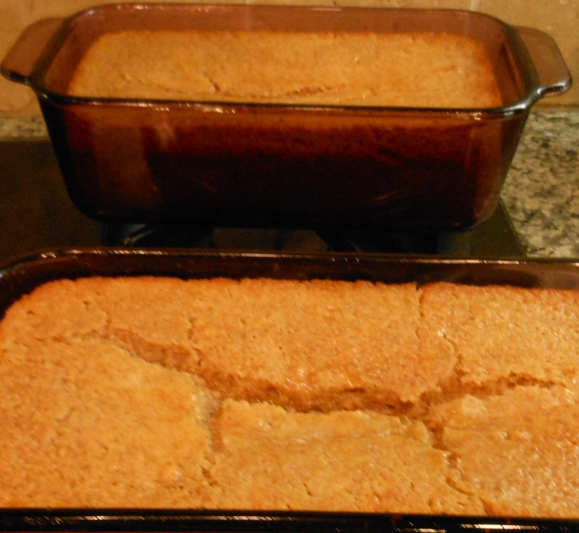 At the 30 minute point, the bread was not super brown on the top, although the edges were browning. So, I checked it with a toothpick, it came out clean, and I removed it from the oven.