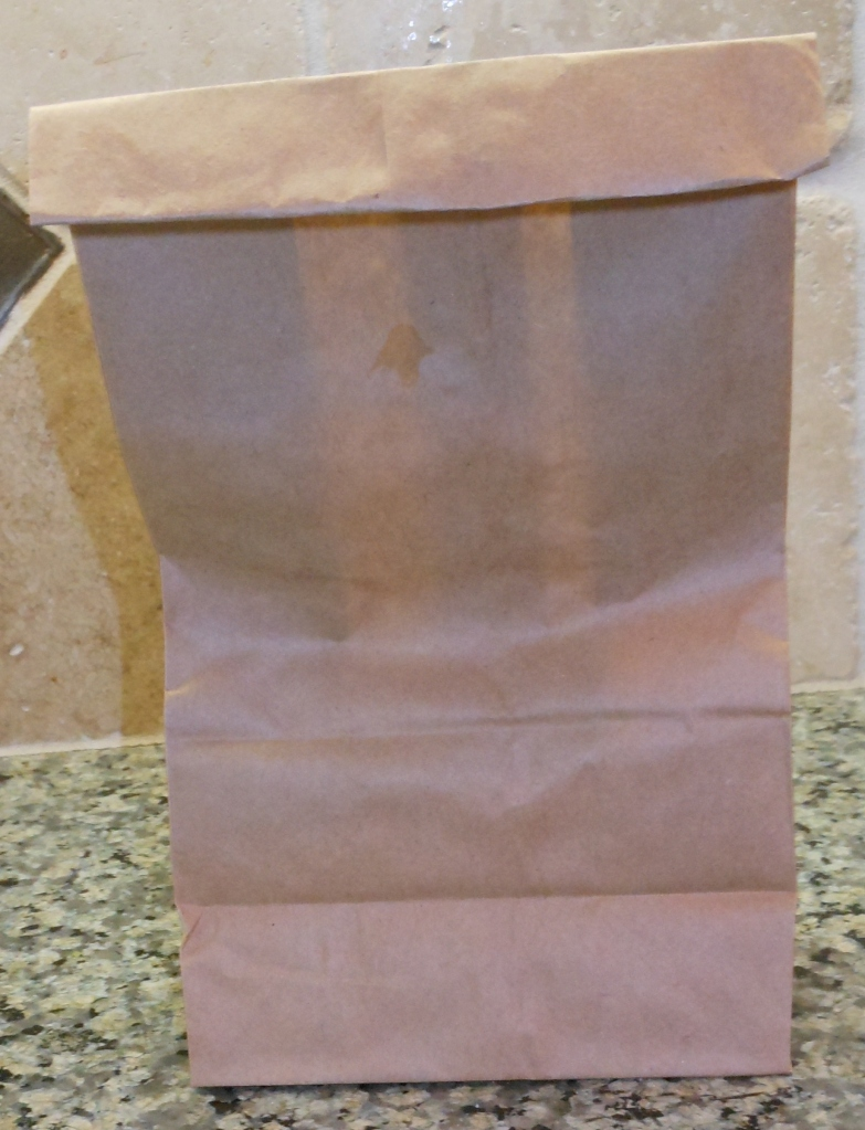 There are two ways you can seal the bag. First, you can fold the top over 2-3 times.