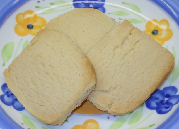 And, Voila! I had delicious shortbread cookies!