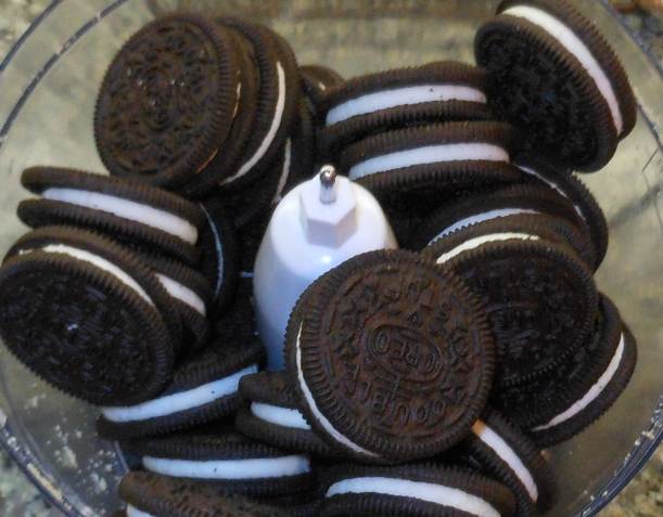 I put Oreos in my food processor.