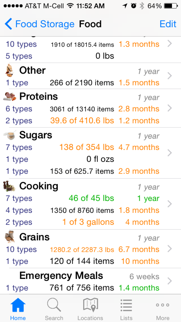 "This is the food storage iPhone app I use called aptly enough, ""Food Storage App."""